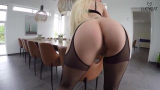 Strumpfband Lucy Cat porn