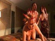 Frau erwischt Mann mit Punk-Bitch